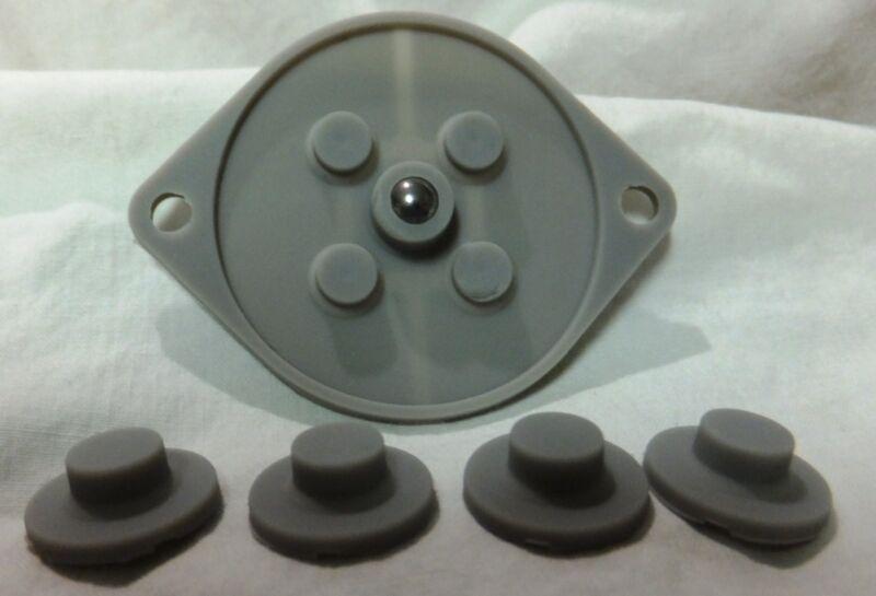 Sega Genesis 3-Button Controller [MK-1650] Repair Kit [Conductive Pads] Lot of 2