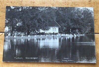 Vintage Postcard Stavanger Norway Park Real Photo Erling Soiland