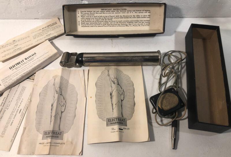 Electreat Massage Instrument - Quack Medicine - w/ Box & Accessories