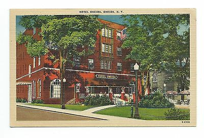 Hotel Oneida, Oneida N Y, Wm, Jubb, With rates ($1.85 to $5.50) on back Hotel Oneida