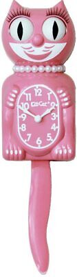 Kit Cat Klock Strawberry Ice Pink Lady Limited Edition Cat Cute Wall Clock