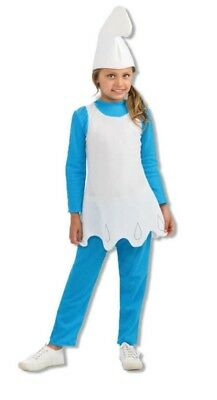 The Smurfs Movie 2 Smurfette Costume Girls Child Sz Large 12-14 Dress Pants Hat - Kids Smurfette Costume