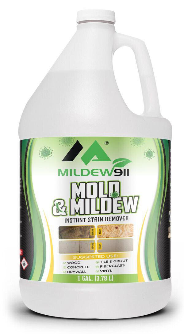 4 Pack Mildew911 MILDEW BLACK MOLD STAIN REMOVER Algae Fungus Moss Musty Green - $29.95