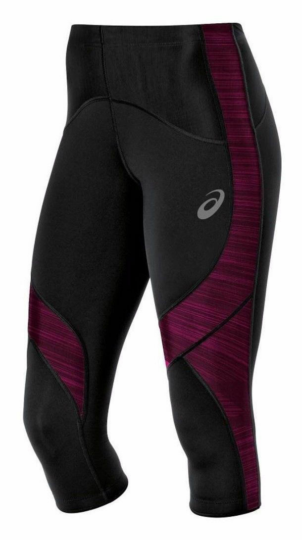 Asics Women's Leg Balance Compression Knee Tights, Magenta,