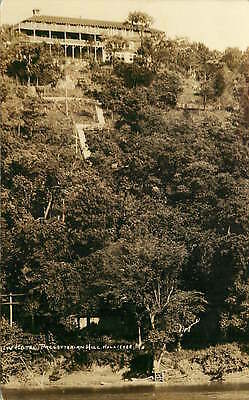 Real Photo Postcard New Hotel Presbyterian Hill, Hollister, Missouri used 1931
