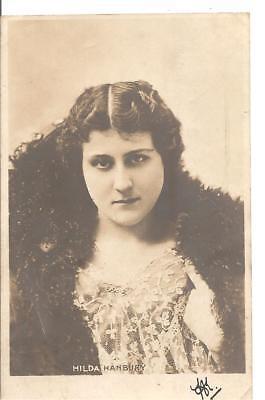 RARE LOVELY VINTAGE GREETINGS POSTCARD,ACTRESS,HILDA HARBURY,1904