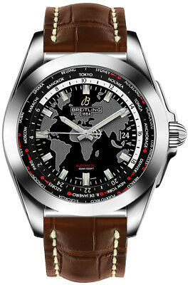 WB3510U4/BD94-739P | NEW BREITLING GALACTIC UNITIME WORLD TIME 44MM MENS WATCH