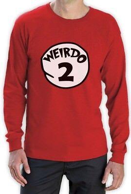 Weirdo 2 Costume Long Sleeve T-Shirt Halloween Weirdo 1 2 Thing Matching couples](Thing 1 Thing 2 Halloween Costume)