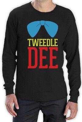 Tweedle Dee Costume Long Sleeve T-Shirt Matching Couples Halloween Cute Love (Tweedle Dee Halloween Costume)