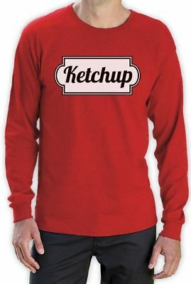 Ketchup Long Sleeve T-Shirt Matching Couple Mustard Halloween Easy Costume S 2XL