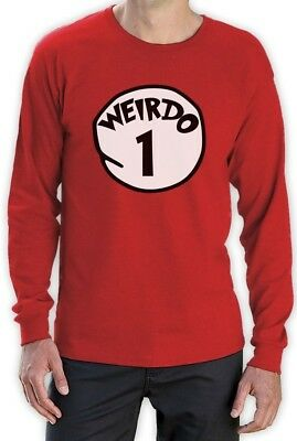Weirdo 1 Costume Long Sleeve T-Shirt Halloween Party Matching BFF Red Thing