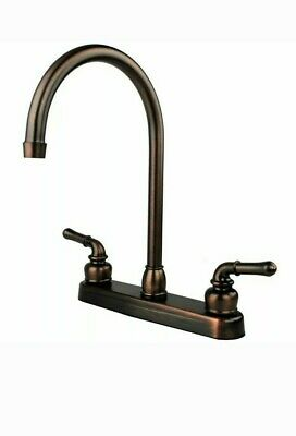 """Oil Rubbed Bronze RV Mobile Motor Home Kitchen Sink Faucet - 14.5"""" Tall Spout"""