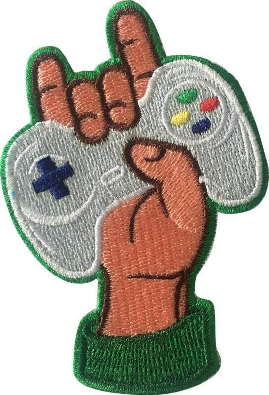 """Video Games Controller 3.6"""" x 2.5"""" Logo Sew Ironed On Embroidery Applique Patch"""