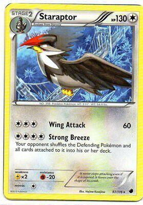 Hp Sterne (pokemon  STERN KARTE B&W 9 PLASMA FREEZE 97/116 STARAPTOR 130 HP)