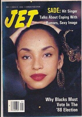 JET MAGAZINE 11/7/1988 SADE TALKS ABOUT RUMORS SEXY IMAGE EXC CONDITION NO LABEL