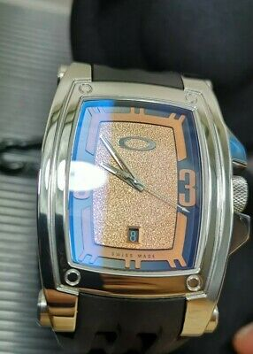 Oakley Warrant watch copper dial like new gmt hollowpoint judge timebomb MM