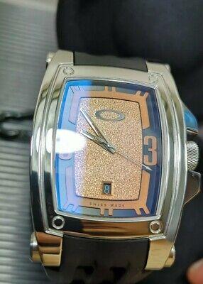 Oakley Warrant watch copper dial like new gmt hollowpoint judge timebomb MM