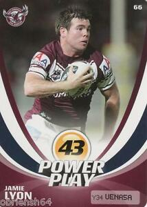 2013 NRL POWERPLAY SINGLE BASE CARD #66 JAMIE LYON MANLY SEA EAGLES