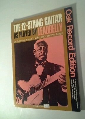 Leadbelly Songbook Folksingers Guide to 12-String Guitar As Played w records