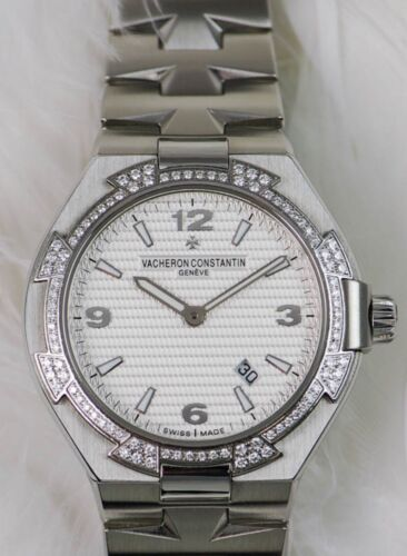 Vacheron Constantin Overseas Chronometer Steel with Factory Diamond Bezel Watch