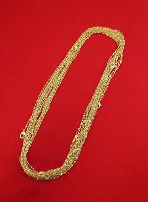 WHOLESALE LOT OF 25 14KT GOLD PLATED 16 INCH 1mm TWISTED NUGGET CHAINS ()