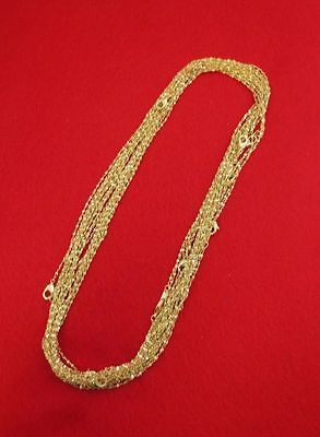 WHOLESALE LOT OF 25 14KT GOLD PLATED 18 INCH 1mm TWISTED NUGGET CHAINS ()