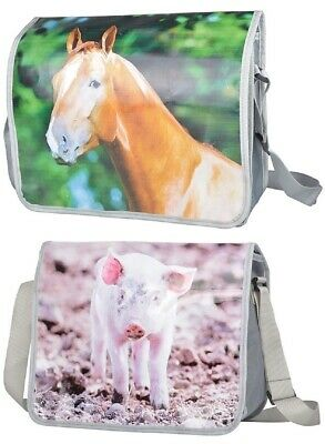 1 Umhängetasche Pferd o. Schwein, Schultertasche Schultasche Tier Pony Ferkel - Pferde Schulter Tasche