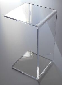 Attirant Clear Acrylic Lucite END SLIDE TABLE Lucite 23