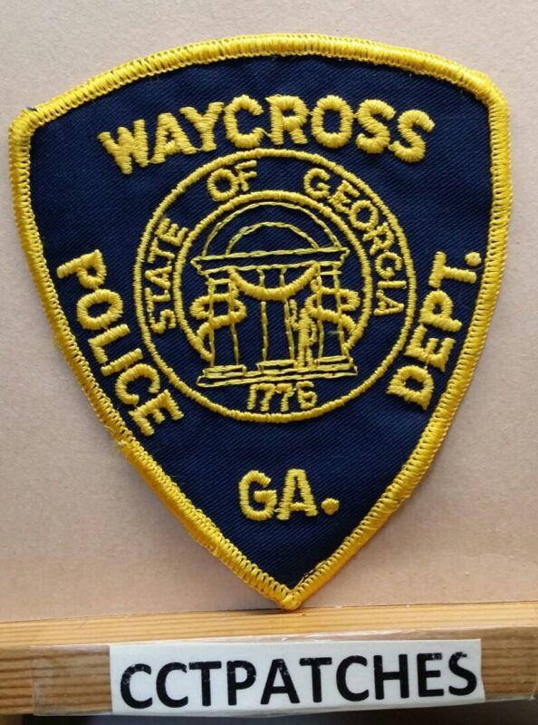 WAYCROSS, GEORGIA POLICE SHOULDER PATCH GA