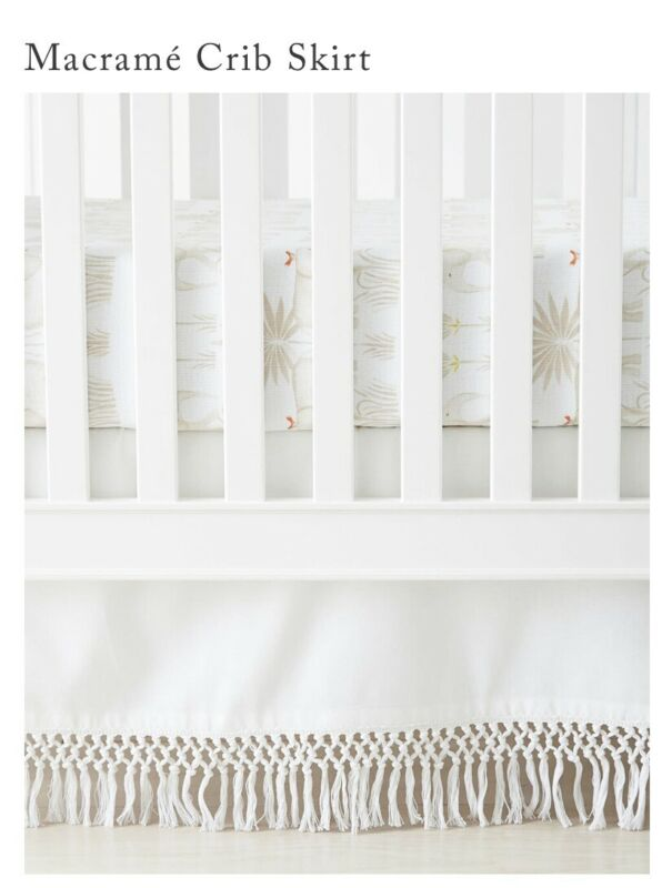 Serena and & Lily Macrame Crib Skirt. White. New with tags. Retail $88