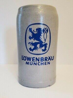 Lowenbrau Munich Stoneware German Beer Stein Mug 1Liter Germany Ceramic
