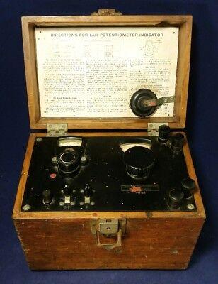 Vintage Ln Leeds Northrup Portable Potentiometer Indicator In Wood Case