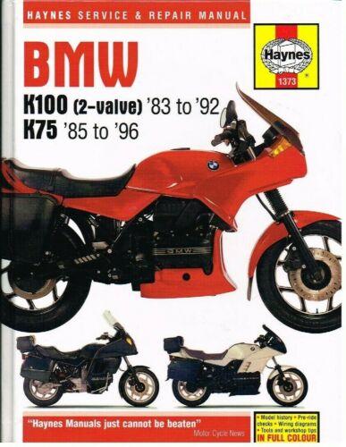 BMW K75 K75C K75S K75T K75RT K100 K100RS K100RT K100LT 1983 - 1996 REPAIR MANUAL