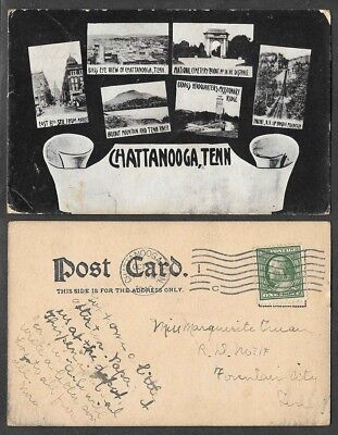 1910 Tennessee Postcard - Chattanooga - Multiview