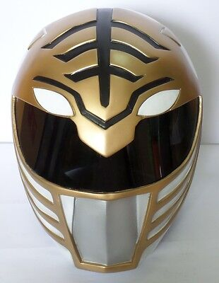 Super Ranger - Hero Power Man Costume Helmet - Color: White & Gold