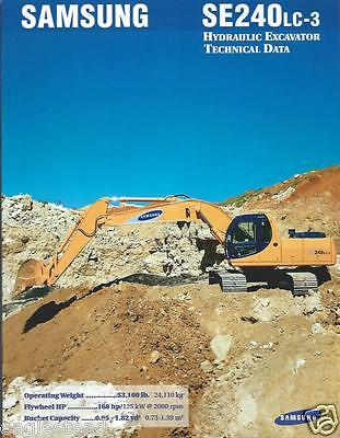 Equipment Brochure - Samsung - Se240lc-2 - Hydraulic Excavator - C1997 E2580