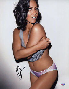 olivia munn signed 11x14 photo very sexy lingerie psa dna