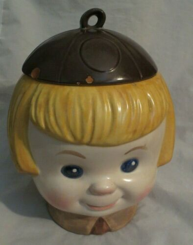 "VINTAGE METLOX ""BROWNIE"" GIRL SCOUT COOKIE JAR *RARE FIND*"