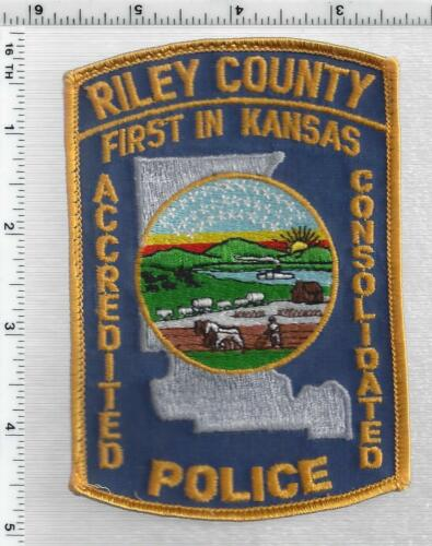 Riley County Police (Kansas) 1st Issue Uniform Take-Off Shoulder patch