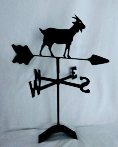 Goat roof mount weathervane black wrought iron look made in usa
