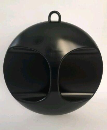 Kabinett Spiegel Friseurspiegel schwarz rund 28cm Friseur Handspiegel Aufhängbar