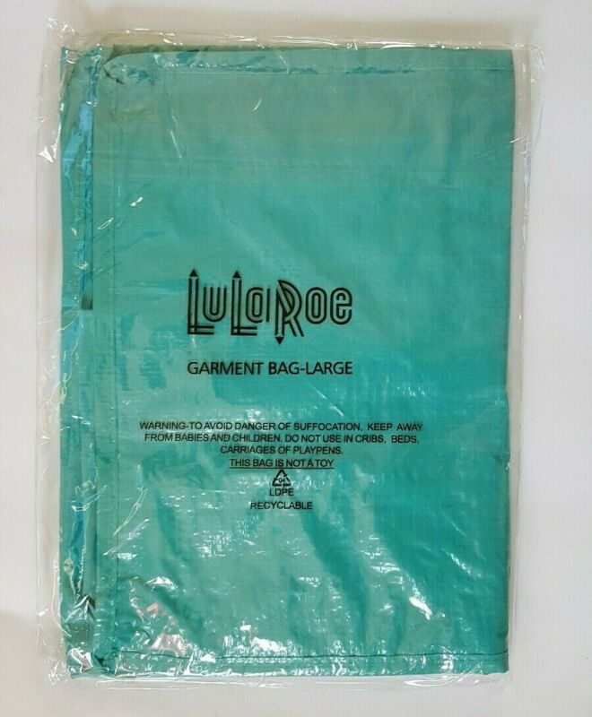 New Lula Roe Large Garment Bag With Zipper Storage Organization Bag Teal Blue