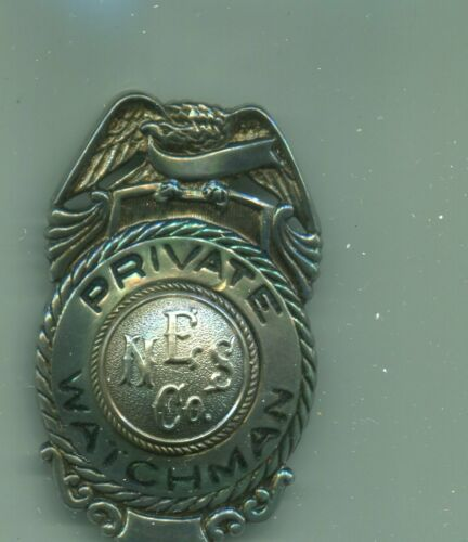 Early New England Steamship Co. Police Watchman Badge NYNH&H Railroad