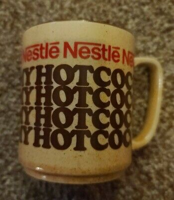 Vintage Nestle's Rich 'N Creamy Hot Cocoa Mugs Stoneware Coffee Made in Japan