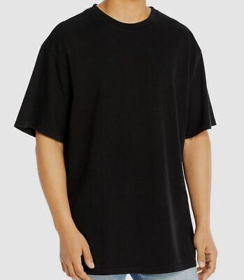 $190 Billy Los Angeles Men Black Crew-Neck Short-Sleeve Oversized T-Shirt Size L
