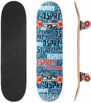 Osprey Beginners Double Kick Trick Skateboard - Repeat