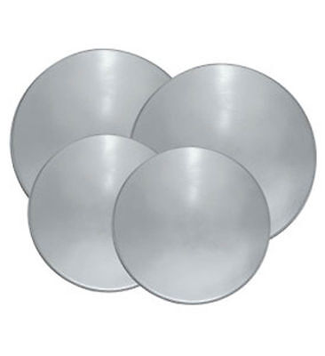 Reston Lloyd Electric Stove Burner Covers, Set of 4 Stainless Steel Look NEW