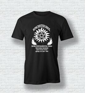 Supernatural-ispirato-Winchester-Bros-STREGONERIA-sam-dean-MAN-donna-t-shirt
