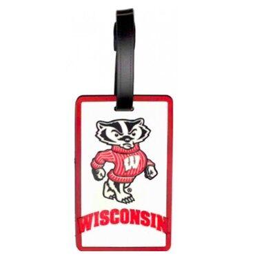 Wisconsin Badgers Luggage Bag Tag ID Tag Rubber Travel Tag Bucky (Wisconsin Badgers Bag Tag)