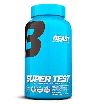 Beast SUPER TEST Muscle Stamina Mass Testosterone Booster Supplement Pill 180ct